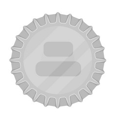 metal beer caplid for closing bottles pub vector image