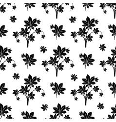 Monochromic botanical seamless pattern vector