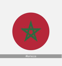 Morocco round circle flag vector