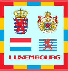 Official government ensigns of luxembourg vector