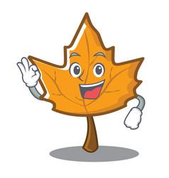 Okay maple character cartoon style vector