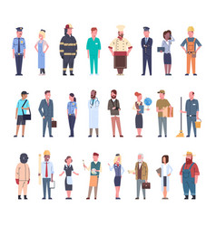 People group different occupation set workers vector