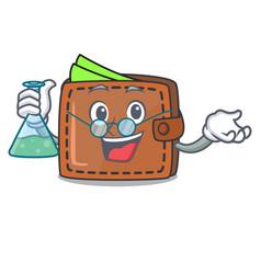 Professor wallet character cartoon style vector