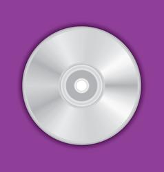 Realistic compact cd dvd disc vector