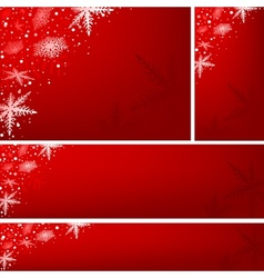 Red xmas banners vector