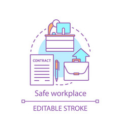 Safe workplace concept icon vector