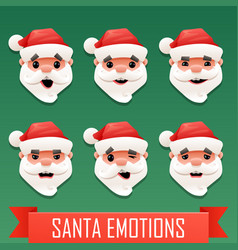 Santa emotions vector
