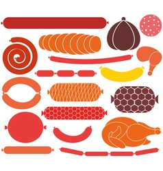 Sausage vector
