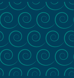 seamless pattern with wave on sea ocean vector image