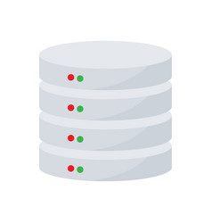 server hosting database icon vector image