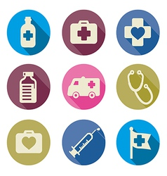 set of medical icons flat vector image