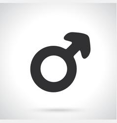 silhouette male mars symbol vector image