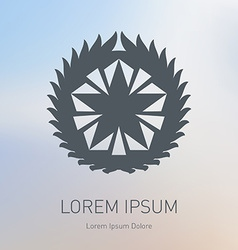 Star logo Award icon or Logotype template vector