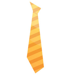 Striped yellow tie icon isometric style vector