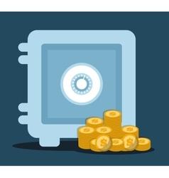 strongbox icon design vector image