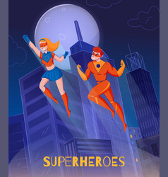 superheroes background poster vector image