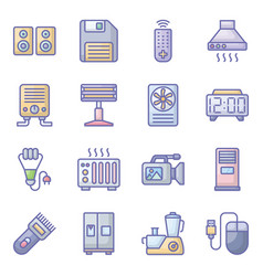 Technological devices flat pack vector