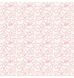 The pattern of hearts and arrows painted on hands vector image