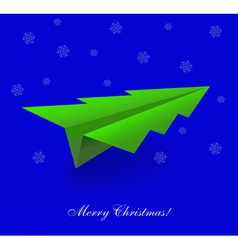 Tree Shaped Paper Plane vector
