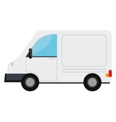 Vanvehicle transport icon design vector image