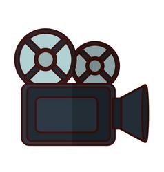 Vintage camcorder film vector