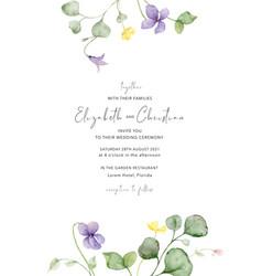 watercolor hand painted wedding invitation vector image