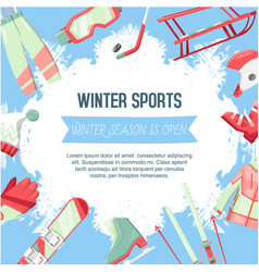 winter sports banner vector image