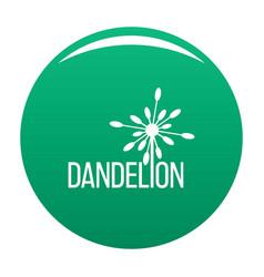 Yellow dandelion logo icon green vector
