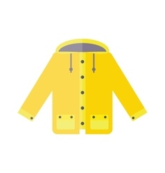 Yellow raincoat weather jacket cartoon vector