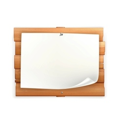 Announcement on wooden board vector image vector image