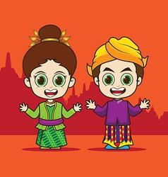 Cartoon Asean Indonesia vector image vector image