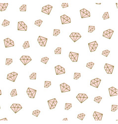 Diamond seamless pattern golden hand drawn vector