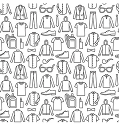 Endless clothes background vector image