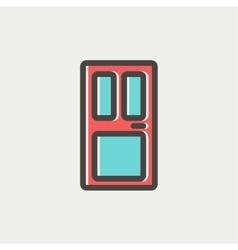 Front door thin line icon vector image