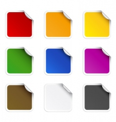 square stickers vector image