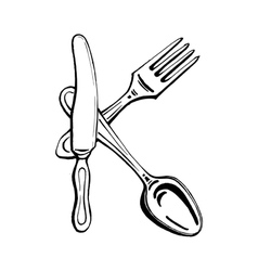 cutlery - the letter K vector image vector image
