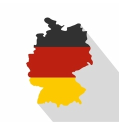 Germany map with national flag icon flat style vector image