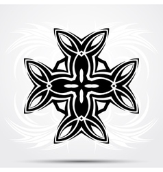 Abstract tribal tattoo Celtic cross vector image vector image