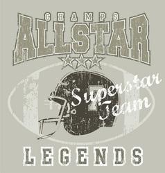 All star FootBall vector image vector image