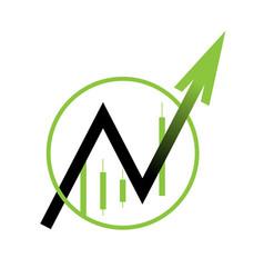 arrow icon moves up vector image vector image