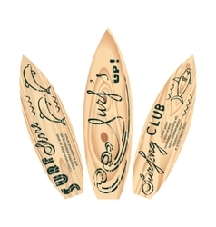 Set of surfboard logos vector image