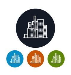 Business center icon city icon vector image vector image