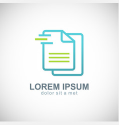 data paper business logo vector image