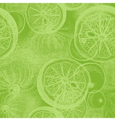 Hand drawn lime Seamless wallpaper pattern vector image vector image