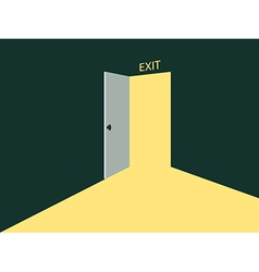 Light from the open door vector image vector image