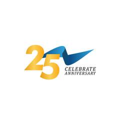 25 years anniversary celebration elegant ribbon vector