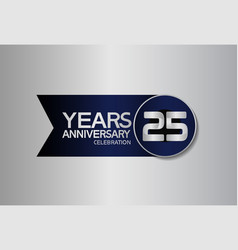 25 years anniversary logo style with circle vector