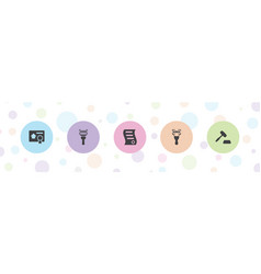 5 sell icons vector