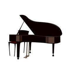 A grand piano vector