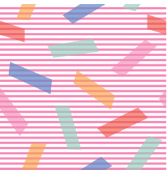 Abstract background with color blocks on thin vector